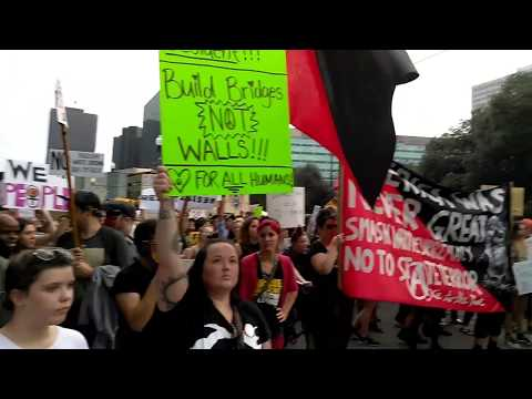 Anti Donald Trump Protests/Second Line in New Orleans