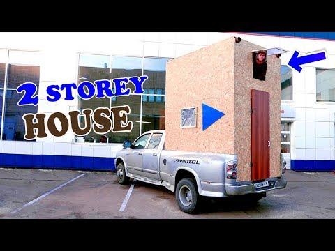 2-STOREY HOUSE ON WHEELS - DIY