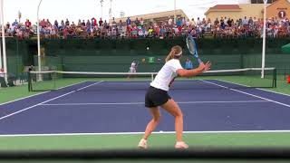 Maria Sharapova (60fps) Court Level Practice