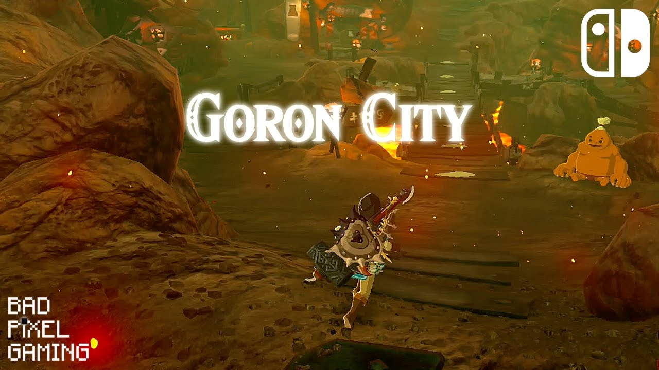 how to get to goron city and get flamebreaker armor breath of the