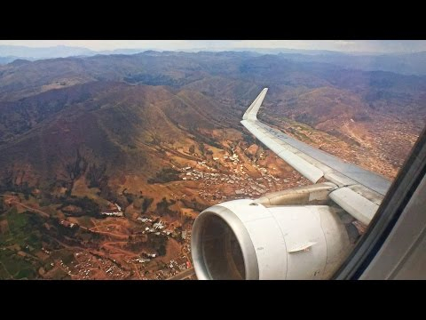 STEEP MOUNTAINS   LATAM Airbus A320 Takeoff from Cusco, Peru at 3600m!