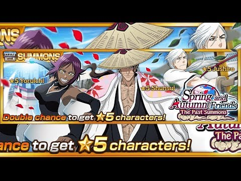"Bleach Brave Souls: Summons Spring and Autumn freinds!!! Nova técnica negativa do Shunsui ""Lacerate""!!! - Omega Play"