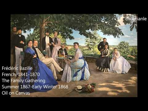 Famous Painting: Frédéric Bazille The Family Gathering