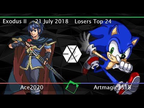 Exodus II - Ace2020 (Marth) vs ArtMagic3318 (Sonic) - SSF2 Beta Losers Top 24