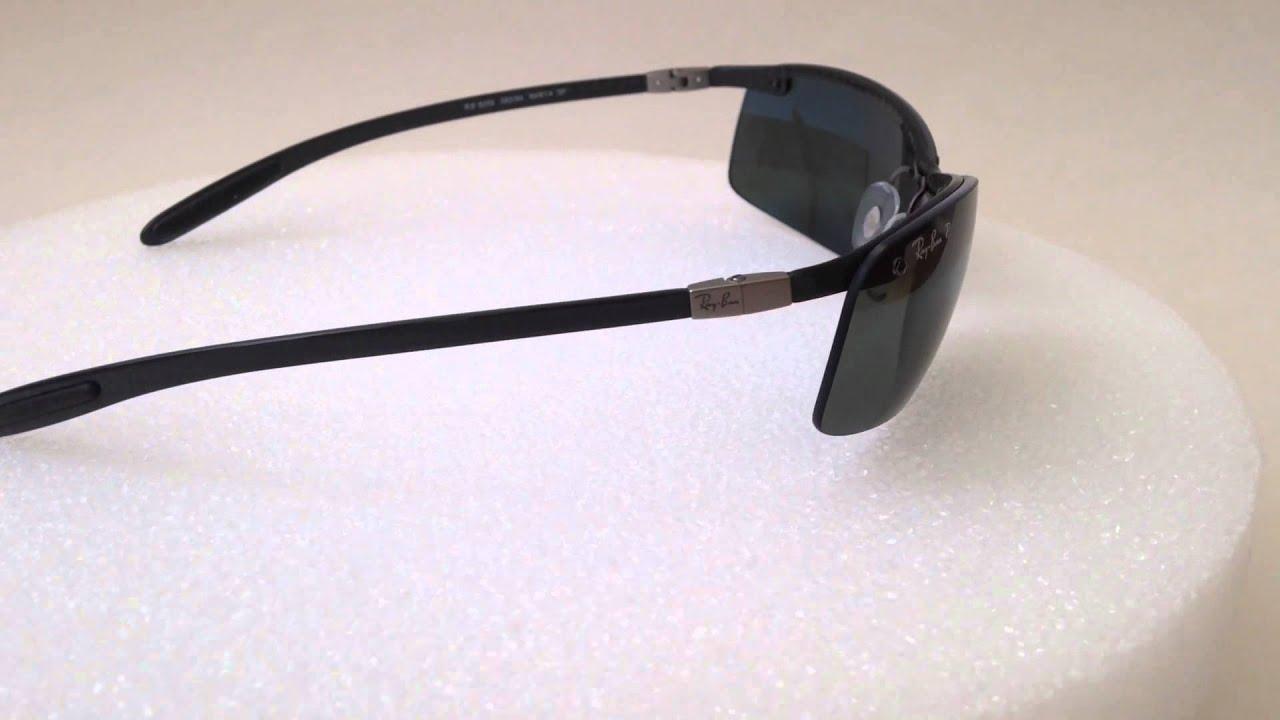 8b9ec7be48 Ray-ban tech polarized sunglasses rb8305 082 9A black carbon fiber 64mm