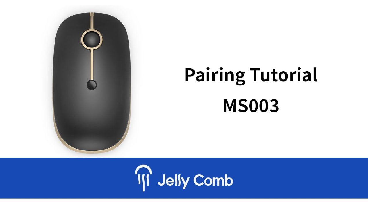 11fe239fa7a Jelly Comb MS003 Bluetooth & Wireless Mouse Pairing Tutorial - YouTube