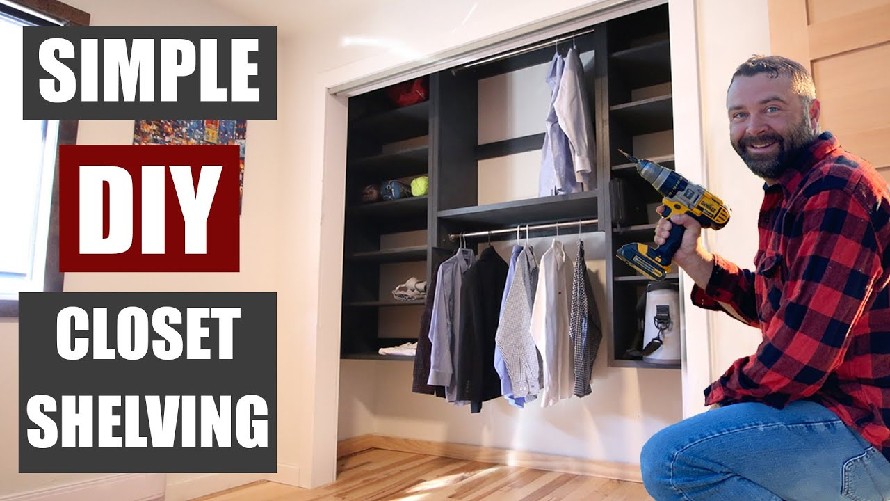 How to Make Closet Shelves - DIY Closet Organization System