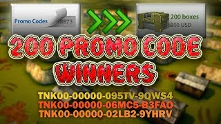 Tanki Online 200 Promo Code Container GIVEAWAY WINNERS + Free Promo Codes