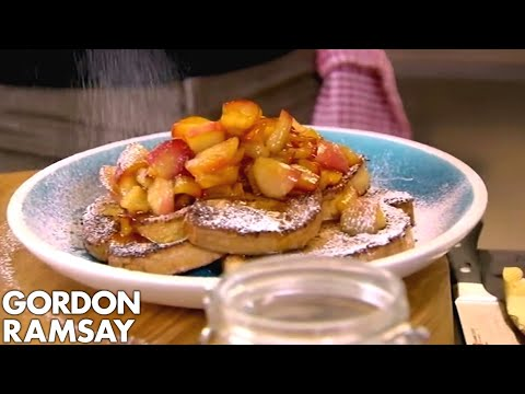 download Gordon Ramsay's Cinnamon Eggy Bread with Quick Stewed Apples