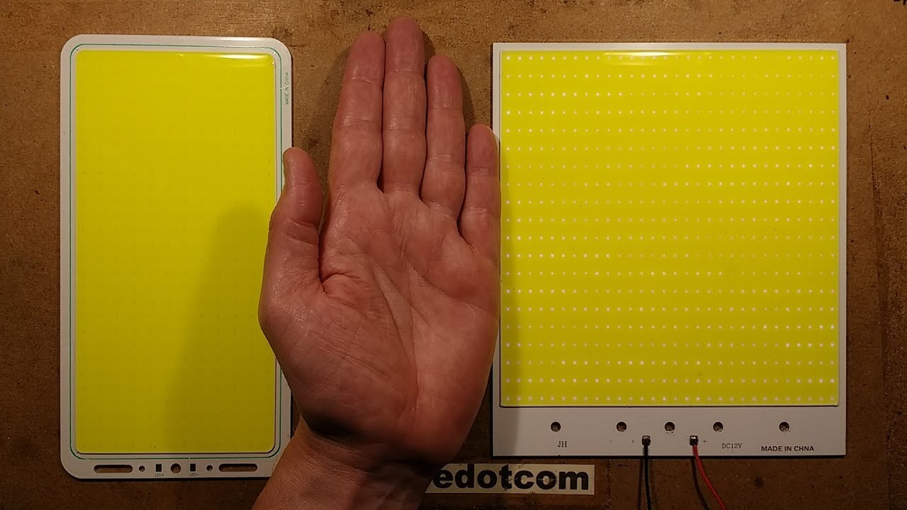 Even BIGGER '200W' COB LED panel tests.