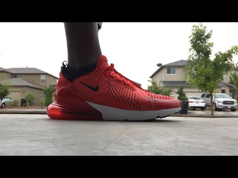 "5dde6ccb34 2018 AIR MAX 270 ""HABANERO"" RED/WHITE ON FOOT STATUS - YouTube"