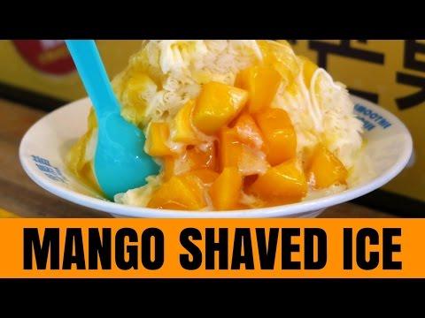 Taiwanese Dessert - Mango Shaved Ice in Taipei, Taiwan