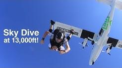 Sky diving at 13,000ft - Skydive Dubai