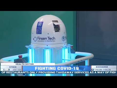 Rwanda acquires 3 disinfecting robots to boost the country's fight against COVID-19