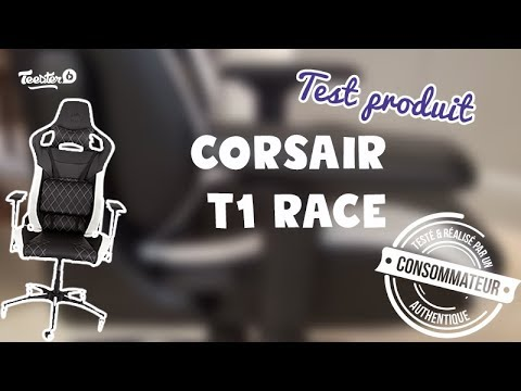 Test Produit - Siège T1 Race White Corsair