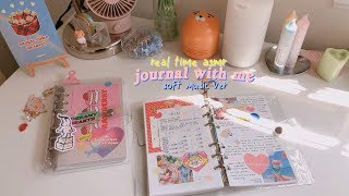 real time asmr journal with me #7 🐯 soft piano music ver. hotel deluna ost screenshot 3