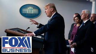 Trump discusses next steps in fighting the coronavirus at White House briefing