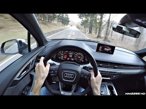 2017 Audi SQ7 4.0 V8 TDI POV Drive on Winding Roads - Diesel V8 Sound!