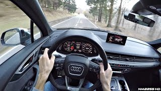 2017 Audi SQ7 4.0 V8 TDI POV Drive on Winding Roads - Diesel V8 Sound!