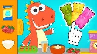 Aprende con Eddie cómo hacer gominolas con gelatina de colores 🍬 Eddie el dinosaurio hace gominolas