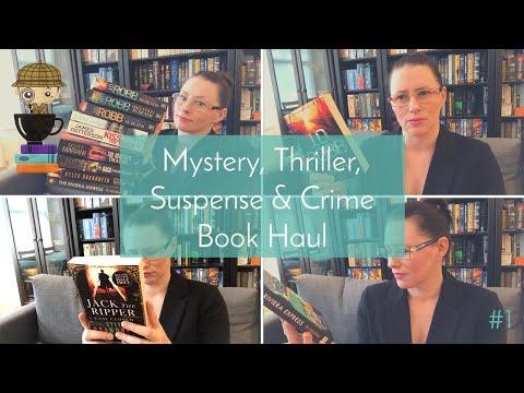 Mystery, thriller, Suspense, + Crime Book Haul | Thriller Novel Nerd
