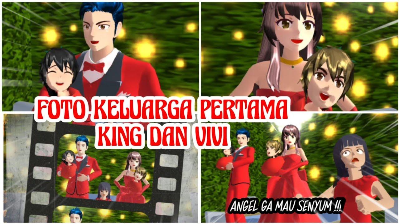 FOTO KELUARGA PERTAMA KING DAN VIVI   VLOG KING HAPPY FAMILY PART 47   DRAMA SAKURA SCHOOL SIMULATOR