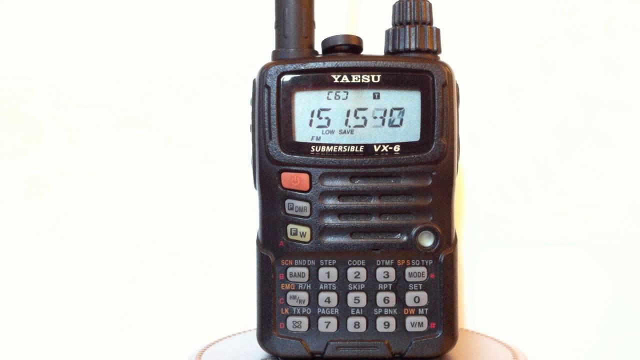 Yaesu VX-6R HD Demo - YouTube