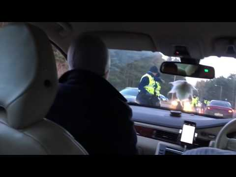 Police DUI raid funny fail   testing passenger instead the real driver Estonia