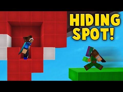Hiding inside of a FAKE ROOM Hiding Spot! (Bedwars)