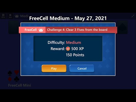 FreeCell Mini Game #4 | May 27, 2021 Event | Medium