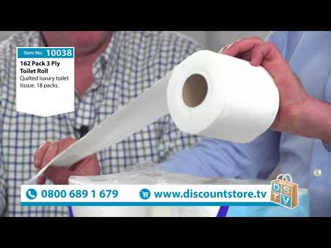 162 3 Ply Linen Soft Toilet Roll | Item No. 10038 | Discount Store TV
