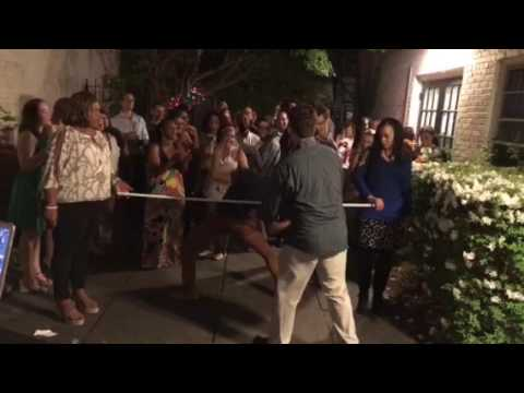 Limbo contest at Bahamas Embassy party 4/21/17