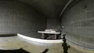 360 Ride Through an Electron Beam Irradiator at Full Beam Power (360 0036 Stitch XHC)