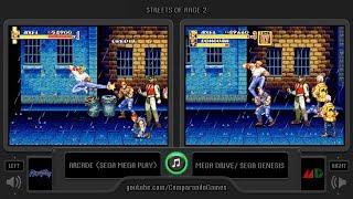 Streets of Rage 2 (Arcade vs Sega Genesis) Side by Side Comparison