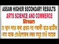 TOP 10 RANK HOLDERS OF ASSAM HS RESULTS, Arts, Science and Commerce