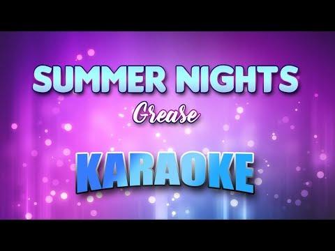 Summer Nights - Grease (Karaoke version with Lyrics)