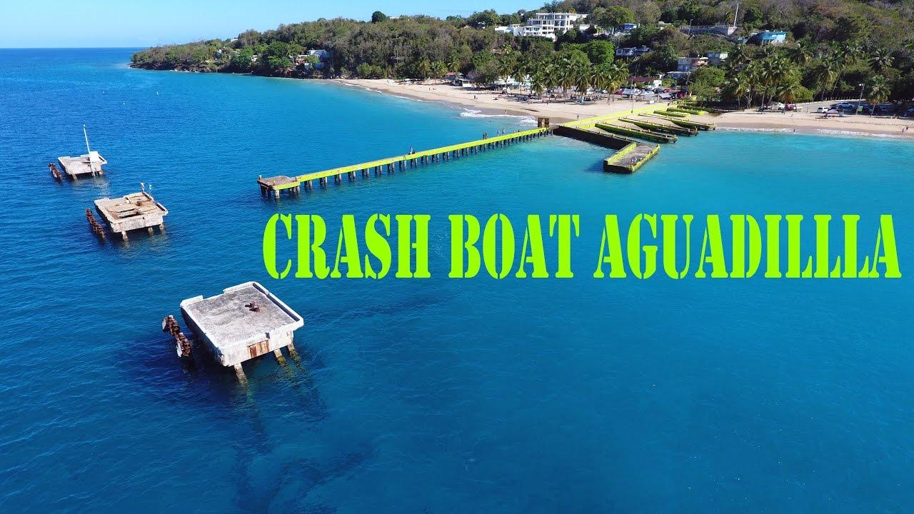 Crash Boat Beach Aguadilla Puerto Rico waves crashing onto