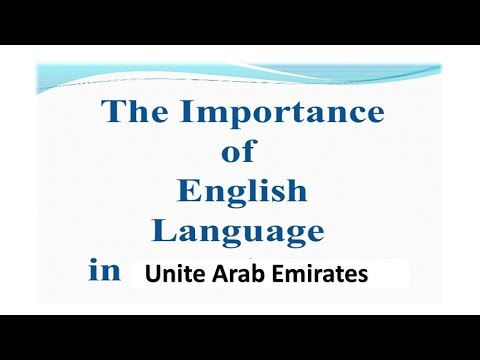 is English very important for people to work in Dubai?