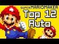 Super Mario Maker Top 12 AUTO COURSES - 2018 (Wii U)