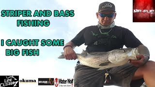 BASS AND STRIPER FISHING IN AZ IS CRAZY FUN (ACTION PACKED VIDEO)