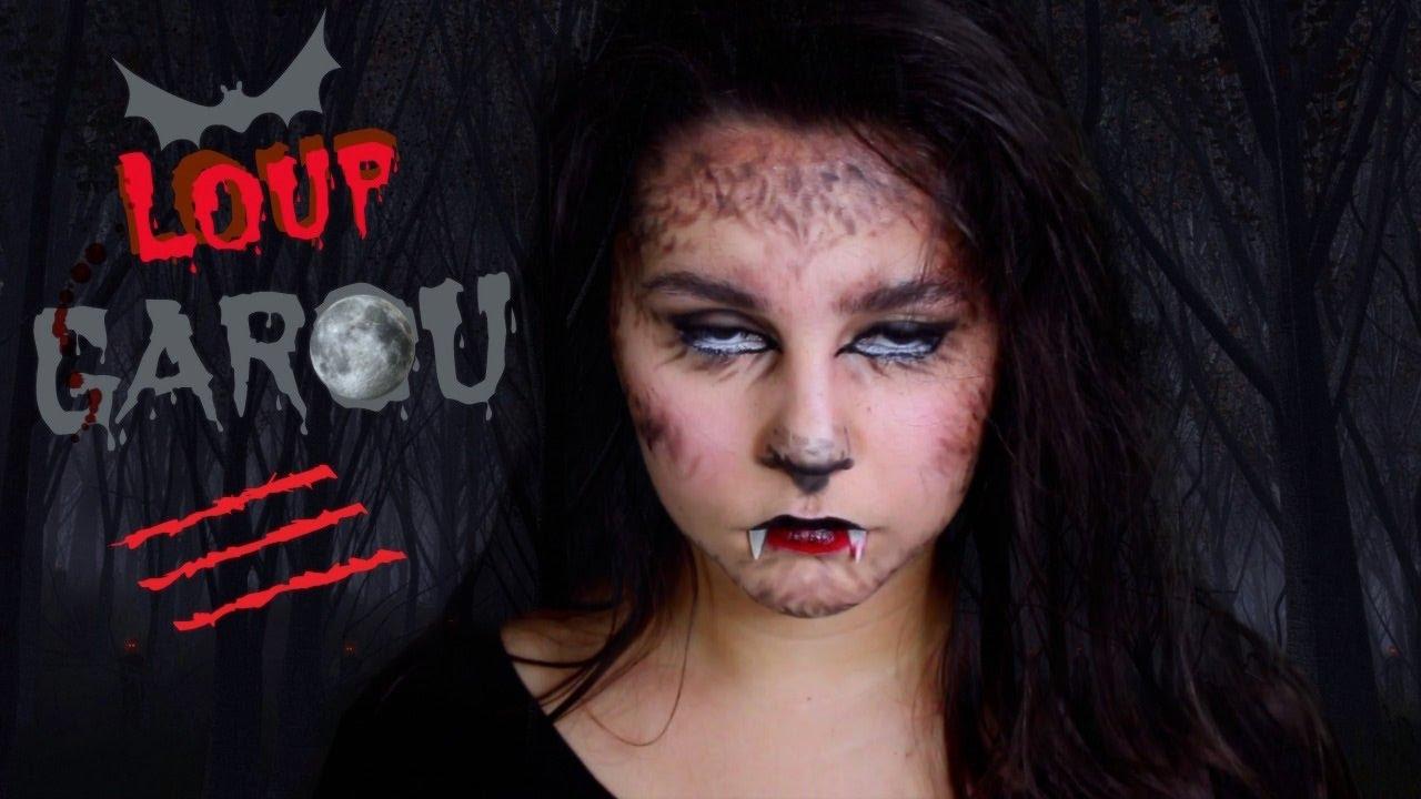 Loup Garou Simple Rapide Maquillage Halloween Youtube