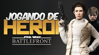HERÓIS vs VILÕES - Gameplay com Leia Organa e Luke Skywalker | Star Wars Battlefront