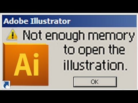 [SOLVED] - ILLUSTRATOR - Not enough memory to open illustration - How to  fix your file