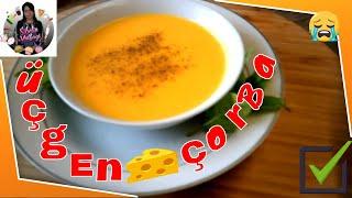 Üçgen Peynirli Balkabaklı Çorba Tarifi Nasıl yapılır Sibelin mutfağı ile yemek tarifleri