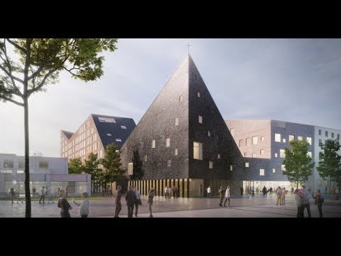 OOPEAA Wins Multi-functional Church and Social Housing Proposal in Helsinki (4K)