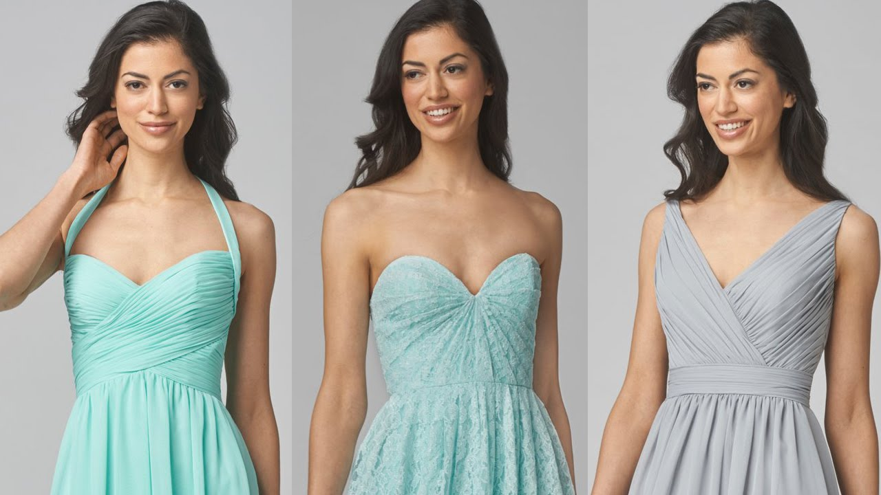 WTOO Bridesmaids Dresses - YouTube