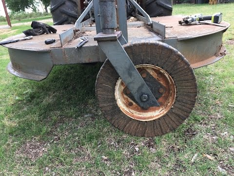 Repairing The Rear Wheel On A Brush Hog