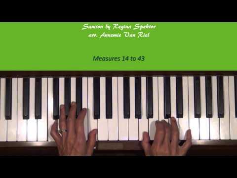 Samson by Regina Spektor Piano Tutorial SLOW