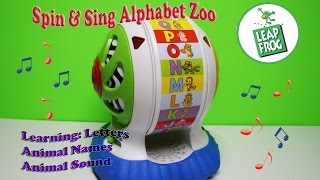 Leap Frog Spin and Sing Alphabet Zoo Learn & Groove Discover ABC Animal Name & Sound Motor Skill