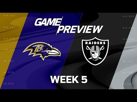 Baltimore Ravens vs. Oakland Raiders   Week 5 Game Preview   NFL Playbook